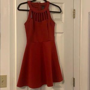 Short red juniors dress